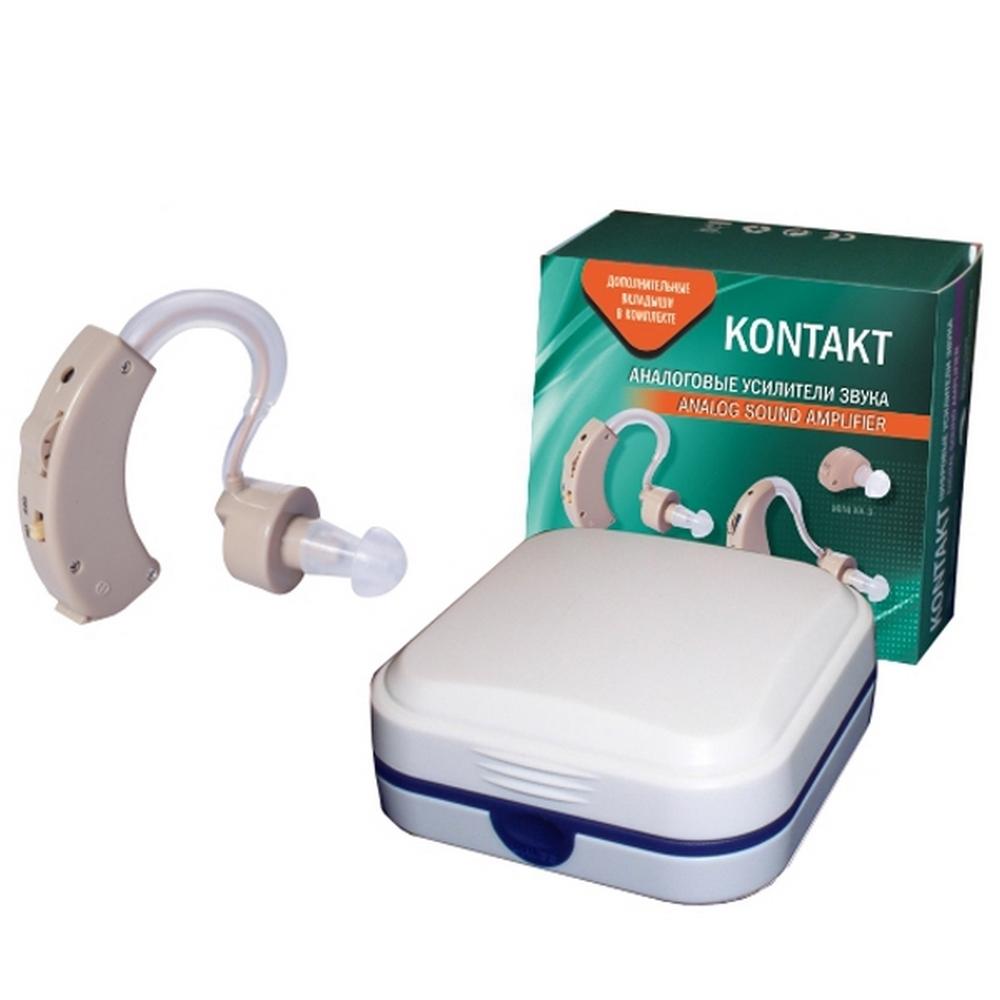 Слуховой аппарат аналоговый усилитель звука «KONTAKT»Слуховые аппараты<br>Слуховой аппарат KONTAKТ KA-2 является популярным компактным усилителем звука, который прост и надежен в использовании. Аналоговый усилитель звука этой модели весит 9 граммов и обладает достаточной мощностью для усиления звука в радиусе до 10 метров. KONTAKT KA-2 оснащен современным высококачественным микрофоном с плавной регулировкой громкости.<br>