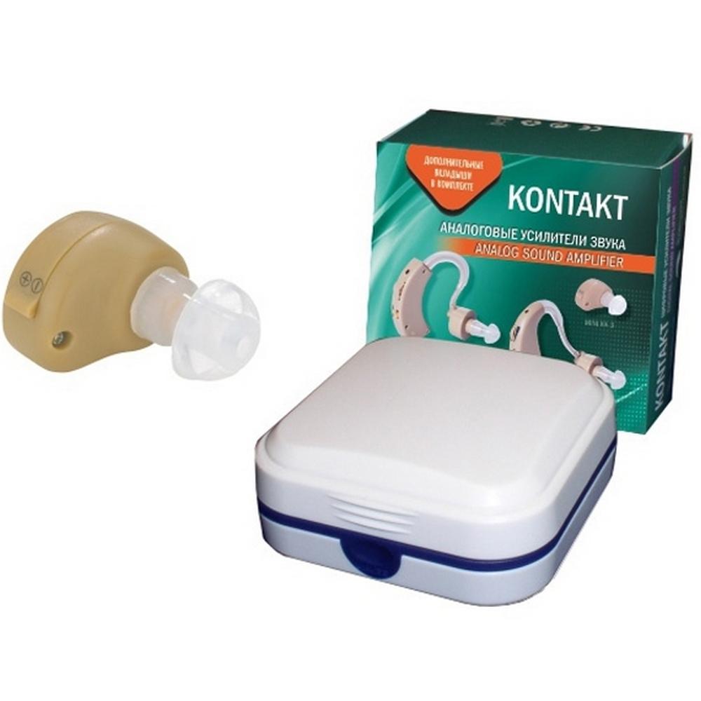 Слуховой аппарат аналоговый усилитель звука «KONTAKT»Слуховые аппараты<br>Слуховой аппарат KONTAKT MINI KA-3 представляет собой компактный усилитель звука, который максимально прост в эксплуатации. Данная модель весит 2,7 грамма, но при всей своей компактности является достаточно мощной для усиления звука в радиусе до 10 метров.<br>