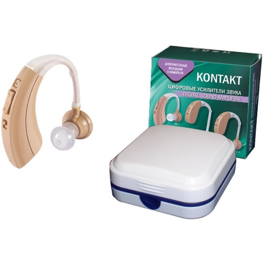 Слуховой аппарат цифровой усилитель звука KONTAKT KD-2Слуховые аппараты<br>Слуховой аппарат KONTAKТ KD-2  является мощным цифровым усилителем звука, обладающим удобной эргономикой и чистым звучанием всей палитры звуков. Данная модель весит всего 5,5 граммов и отличается экономичным потреблением энергии. Также аппарат оснащен цифровой настройкой громкости и 4 режимами работы, которые позволяют подобрать оптимальный частотный диапазон для индивидуальных потребностей.<br>