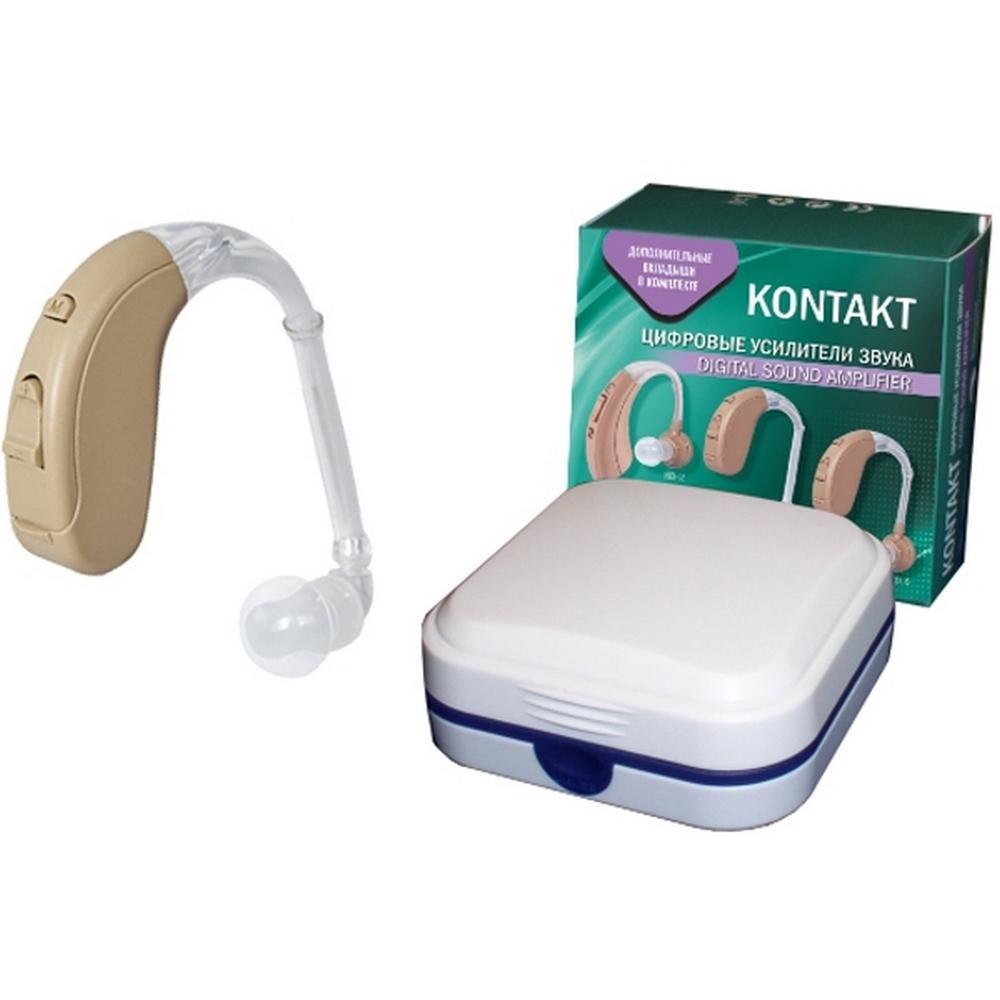 Слуховой аппарат цифровой усилитель звука «KONTAKT»Слуховые аппараты<br>Слуховой аппарат KONTAKТ KD-4  - это современный цифровой усилитель звука, с приятным дизайном, удобными эргономичными характеристиками и чистым звучанием. Вес данной модели составляет 4,2 г, но при этом устройство обладает отличной мощностью, экономичным потреблением энергии и долговечностью.<br>
