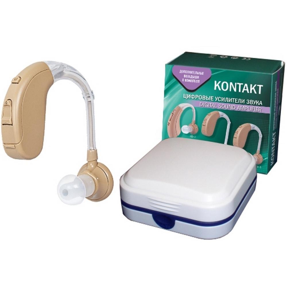 Слуховой аппарат цифровой усилитель звука «KONTAKT»Слуховые аппараты<br>Слуховой аппарат KONTAKТ KD-6 представляет собой цифровой усилитель звука, обладающий высокой чувствительностью, комфортом в эксплуатации и экономным потреблением тока. Аппарат оснащен высококачественным микрофоном с электронной настройкой громкости и работает в четыре режимах.<br>