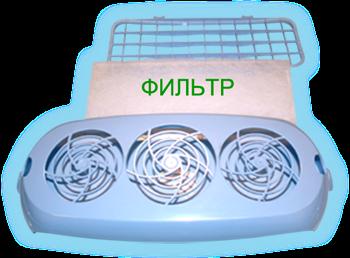 Фильтр воздушный сменный упаковка 12 шт. «КРОНТ-МЕД»Облучатель Дезар<br><br>