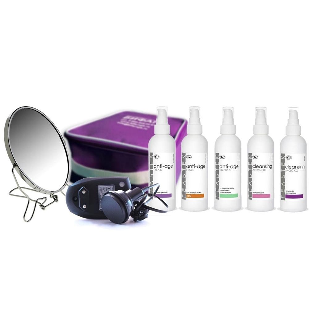 Готовый набор «Anti-age с фонофорезом» лифтинг-программа для увядающей кожи с возрастными изменениямиКосметика Гельтек (Geltek)<br>Цель: улучшение трофики кожи, лифтинг, омоложение, гидратация, улучшение цвета лица.<br>