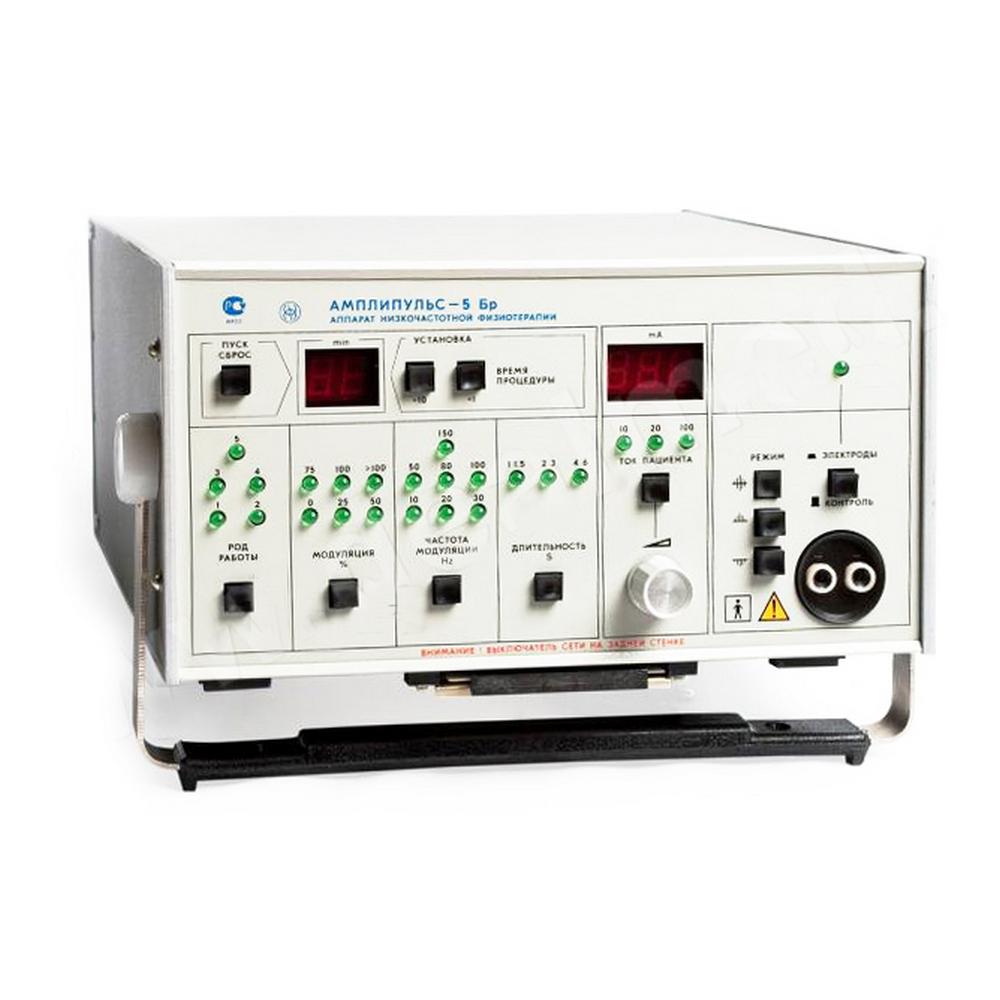 Аппарат низкочастотной физиотерапии «Электроаппарат»Аппарат Амплипульс<br>Амплипульс 5БР осуществляет лечение модулированными токами звуковой частоты и применяется в качестве физиотерапевтического аппарата. Основная область использования – физиотерапевтические кабинеты медицинских учреждений.<br>