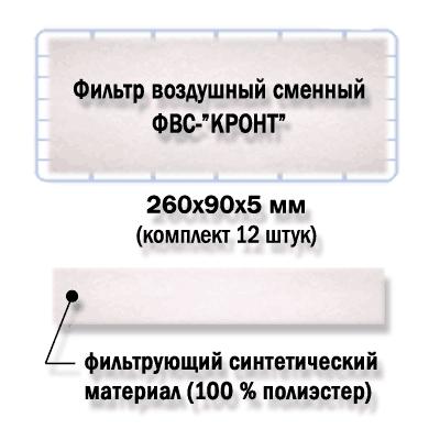 Фильтр угольный сменный упаковка 12 шт. КРОНТ-МЕД ФУС-КРОНТ