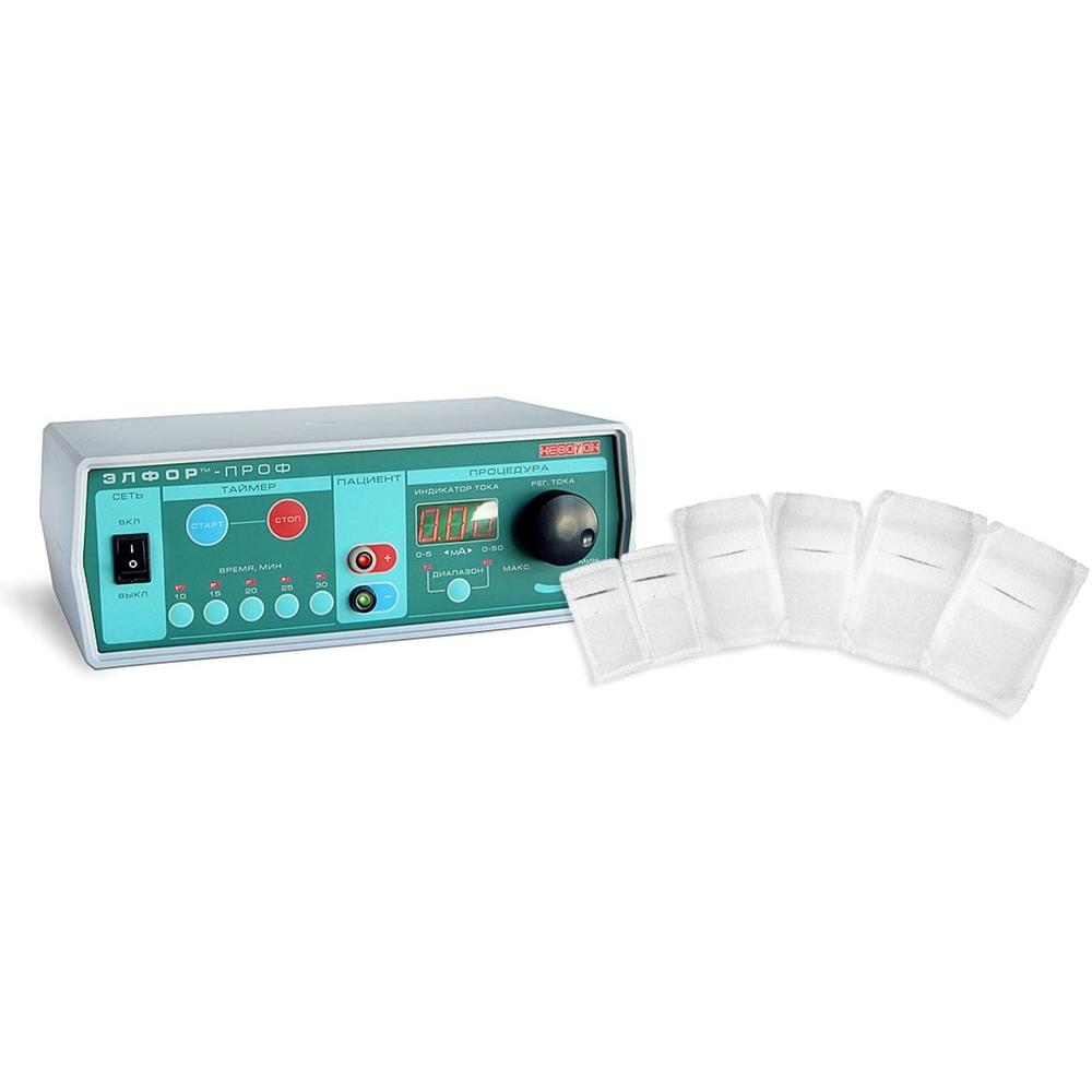 Элфор-Проф (Детская комплектация) аппарат для гальванизации и электрофореза «НЕВОТОН»