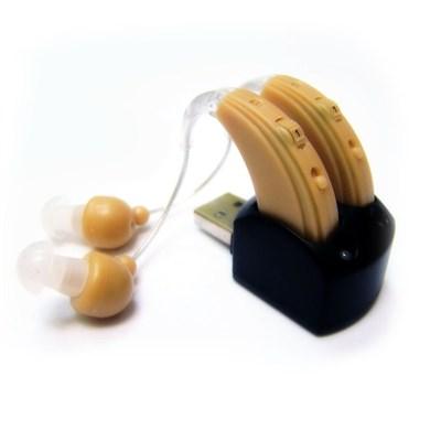 Слуховой аппарат цифровой усилитель звука Острослух 100MB заушный, аккумулятор - фото 11584