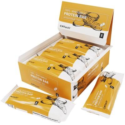 Протеиновый высокобелковый батончик без сахара 50 гр. Вкус арахисовый торт. Упаковка 7 шт. - фото 13721