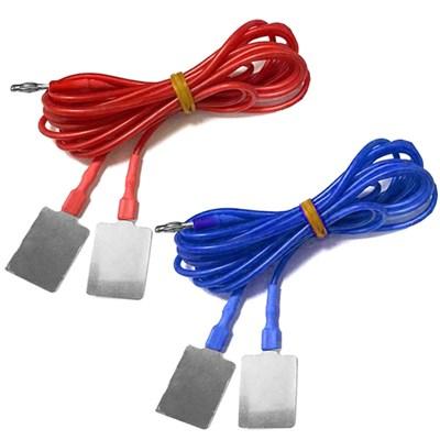 Комплект силиконовых кабелей с токоподводом из нержавеющей стали марки AISI 304 раздвоенный под ПоТок - фото 15154