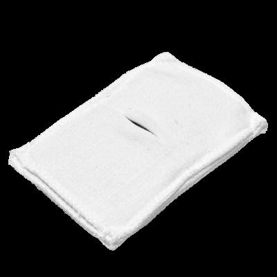 Электрод токопроводящий терапевтический с токораспределительным элементом из углеродной ткани многоразовый фланелевый 80x120 мм. (96 кв. см) Цена за 1 шт. - фото 15236