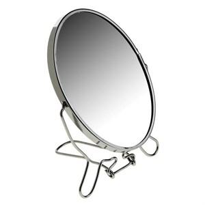 Зеркало настольное металлическое увеличительное двухстороннее круглое