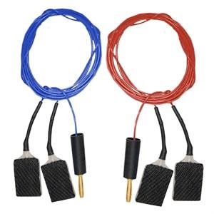 Раздвоенный комплект кабелей ПВХ с углетканевыми токоподводами