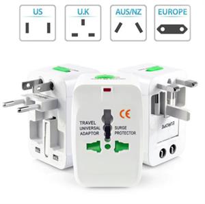 Универсальный адаптер для путешествий US/UK/AUS/NZ/EU