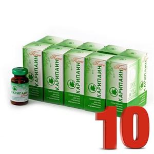 Карипаин плюс сухой бальзам фл. 10 мл. (600 ПЕ)  10 шт. (230 руб. / шт.)