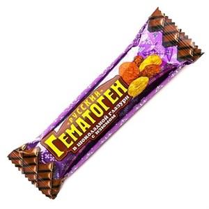 """Гематоген """"Русский"""", в шоколадной глазури с изюмом, 40 г."""