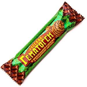 """Гематоген """"Русский""""  в шоколадной глазури с кедровым орехом 40 г."""