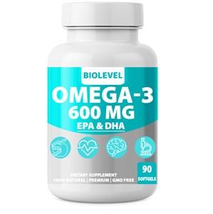 Omega-3 600 MG EPA & DHA BioLevel 60% Концентрат 90 капсул (30 порций Омега-3:1800 мг. ЭПК 990 мг. ДГК 660 мг.)