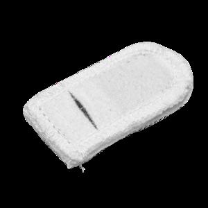 Электрод токопроводящий терапевтический с токораспределительным элементом из углеродной ткани многоразовый фланелевый «Глазной» (овал, длина 30x60 мм., 15 кв. см.) Цена за 1 шт.