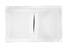 Электрод токопроводящий с токораспределительным элементом из углеродной ткани многоразовый фланелевый 100x120 мм.